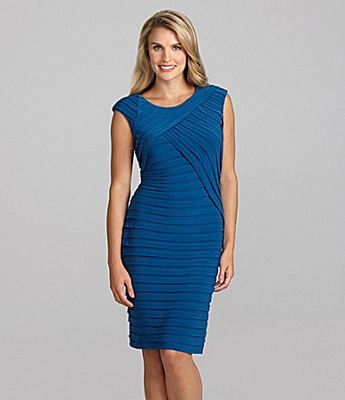 Adrianna Papell Asymmetric Banded Dress