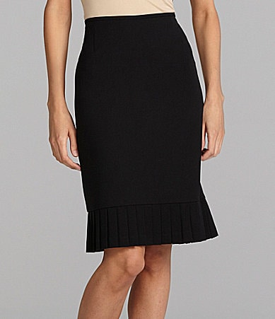 Tahari by ASL Separates Pleated-Hem Skirt