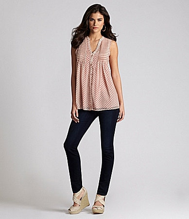 Gianni Bini Sailor Blouse & My BFF Denim Jeggings