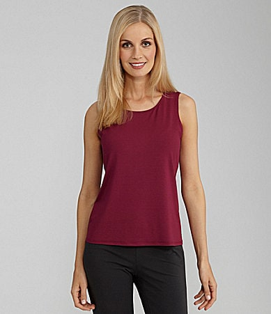 Eileen Fisher Woman Jewel Neck Shell