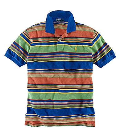 Polo Ralph Lauren Big & Tall Classic-Fit Multi-Striped Mesh Polo Shirt