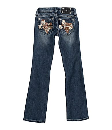 Miss Me Girls 7-16 Texas Cowhide Bootcut Jeans
