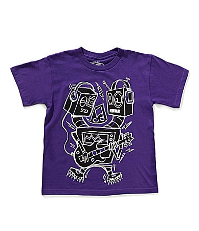 First Wave 8-20 Robot Rawk Screenprint Tee