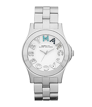 Marc by Marc Jacobs Rivera Sparkling Silvertone Watch