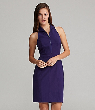 Marc New York Sleeveless Zip-Front Dress