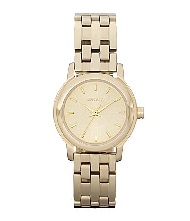 DKNY Essentials Ladies Goldtone Dress Watch