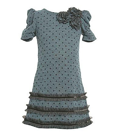 Bonnie Jean Plus Size Polka-Dotted Dress