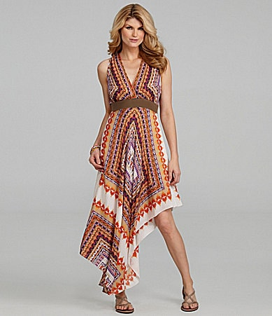 Antonio Melani Lourdes Handkerchief-Print Dress