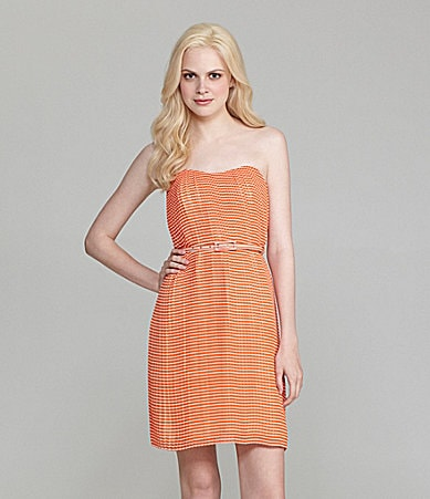 French Connection Strapless Striped Dress