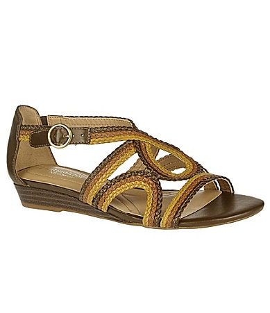 Naturalizer Judo Multi Color Braided Wedge Sandal
