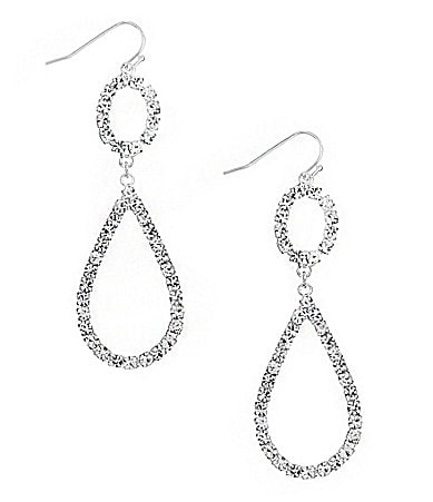 Cezanne Crystal Open Teardrop Earrings