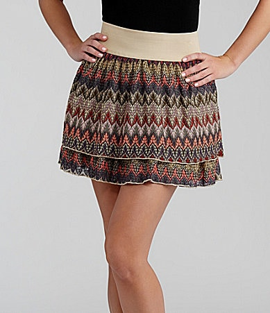 Takara Printed Tier Skirt