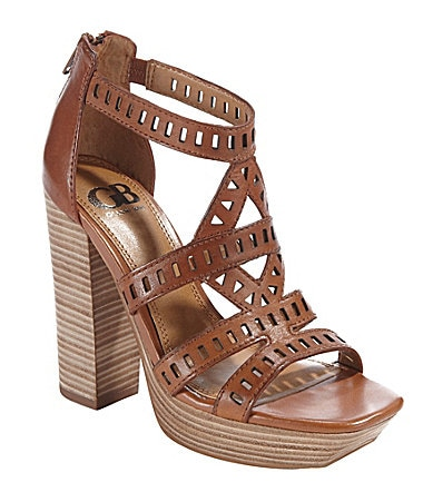 GB Gianni Bini Party-Gal Cutout Platform Sandals