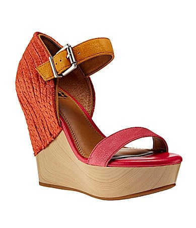 GB Gianni Bini Glam-Girl Colorblock Wedges