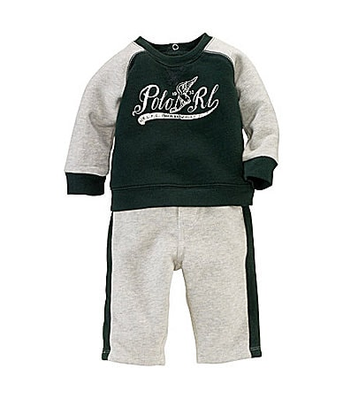 Ralph Lauren Childrenswear Newborn Graphic Fleece Pant Set