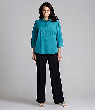 Alex Marie Woman Heidi Blouse & Paige Linen-Blend Pants