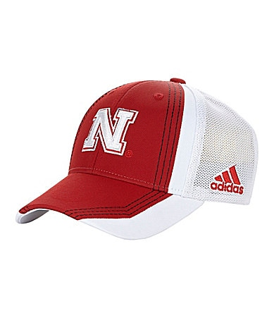 Adidas University of Nebraska Flex Meshback Cap