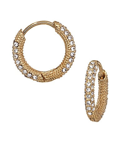 Nadri Gold Pave Huggie Hoop Earrings