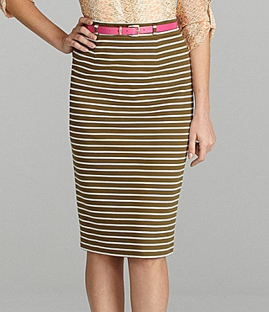Cremieux Mindy Striped Pencil Skirt