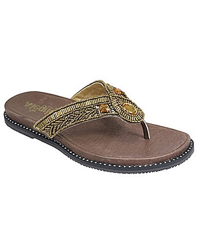 Alegria Women�s Baliwood Bling Thong Sandals