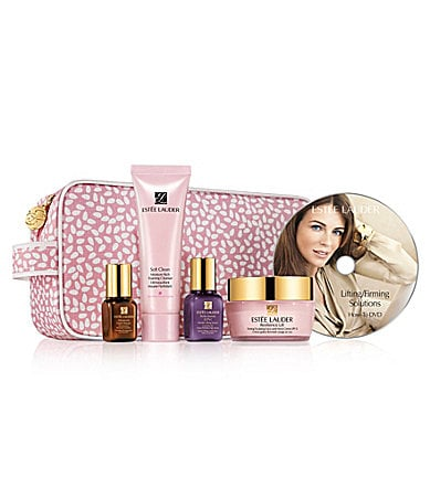 Estee Lauder Lifting/Firming Solutions Skincare Travel Set with Full-Size Moisturizer & DVD