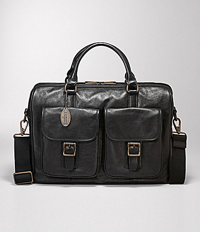 Fossil Estate Top-Zip Work Briefcase