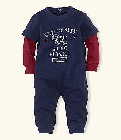 Ralph Lauren Childrenswear Newborn Graphic Coverall
