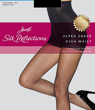 Hanes Silk Reflections Ultra Sheer High-Waist Control Top Pantyhose