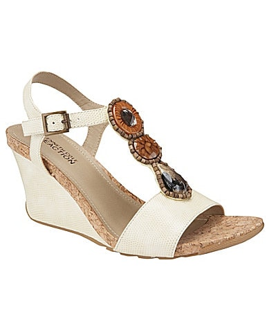 Kenneth Cole Reaction Seeking Ceder T-Strap Wedge Sandals
