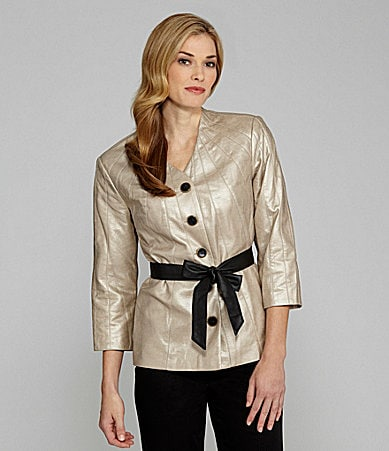 Sharon Young Faux Paper Leather Jacket