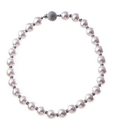 Nadri Pearl Rondelle 12mm Necklace