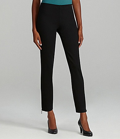 Eileen Fisher Slim Zip-Ankle Pants
