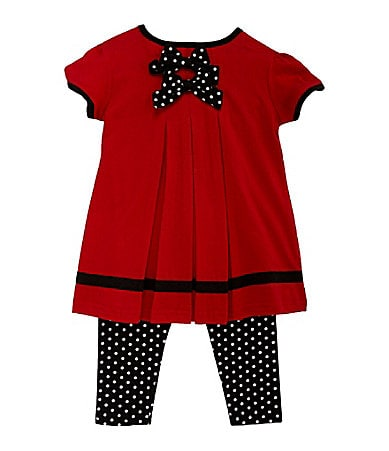 Starting Out Infant Black Dot 2-Piece Legging Set