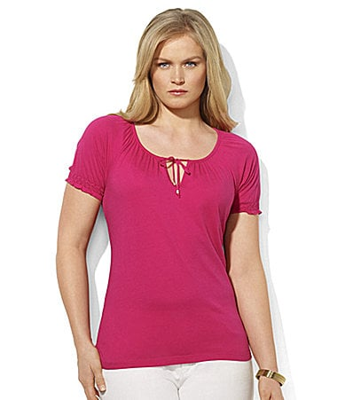 Lauren Ralph Lauren Woman Brenda Short-Sleeved Cotton Top