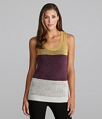 Kensie Striped Sweater Tank