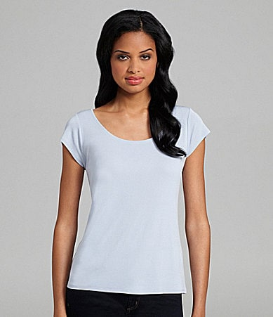Eileen Fisher Woman Silk-Jersey Scoopneck Tee