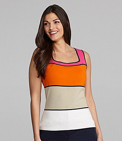 Alex Marie Petites Bethia Colorblock Knit Top