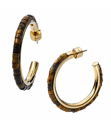 Michael Kors Beaded Hoop Earrings