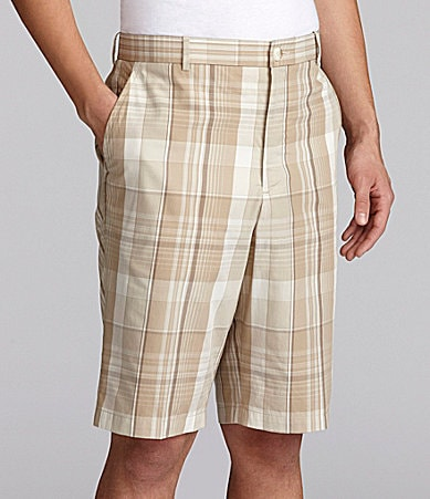 Perry Ellis Madras Chambray Plaid Shorts