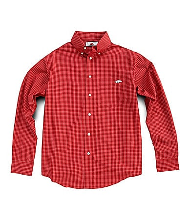 The Razorback Collection Plaid Poplin Sportshirt