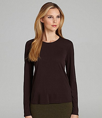 Eileen Fisher Crewneck Long-Sleeve Tee