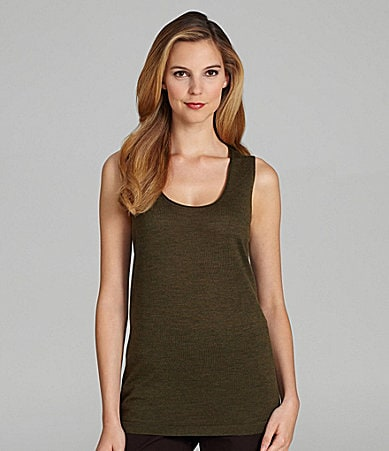 Eileen Fisher Wool Scoopneck Tank