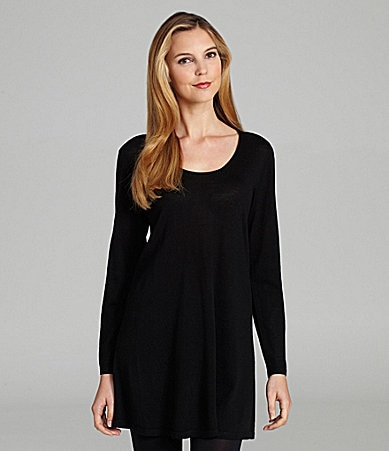 Eileen Fisher Scoopneck Long Tunic