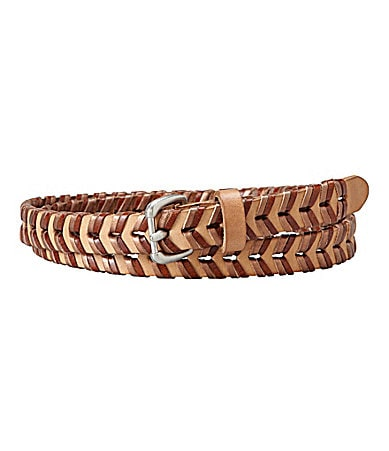 Fossil Leather Wrap Skinny Belt