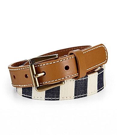 Jessica Simpson Striped Skinny Belt