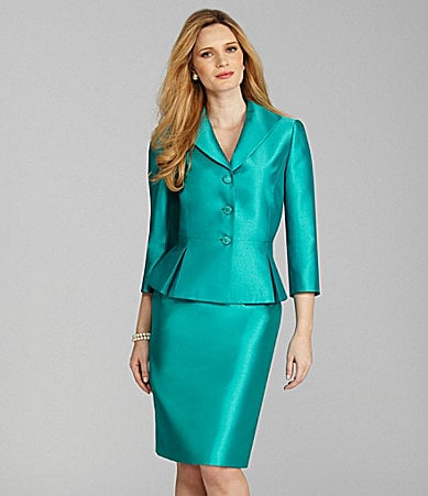 Preston & York Satin Jacket & Skirt
