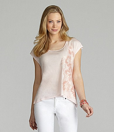 Cremieux Odette Sequin-Floral Knit Top