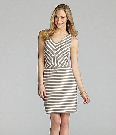 Cremieux Melissa Stripe Knit Dress