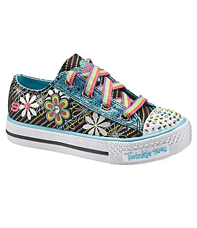 Skechers Girls Twinkle Toes: Shuffles - Dashin� Daisy Sneakers