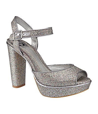GB Gianni Bini Dance-Off Glitter Sandals